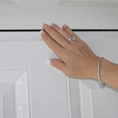 Fingerklemsikring på Doortec garageport