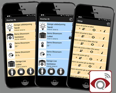 EyeQ portåbner på mobilen