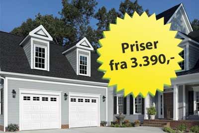 Billige garageporte i god kvalitet - garageporte fra kr. 3.390,