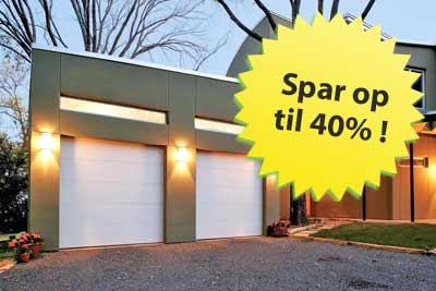 """Tilbud på garageporte - køb din garageport med op til 40% rabat"""""""